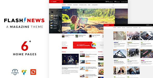 Flash News - A Complete Magazine / News WordPress Theme