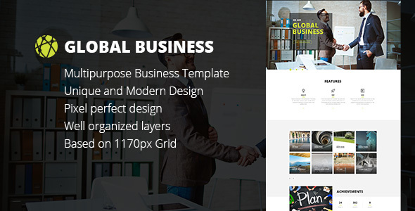 GB – Business, Corporate, Portfolio html Template