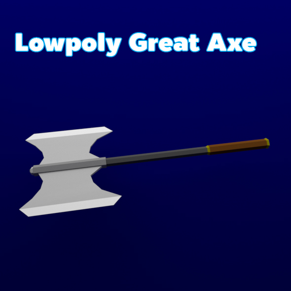 Lowpoly Great Axe - 3DOcean Item for Sale