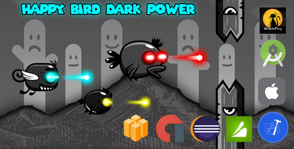Happy Bird Dark Power | Xcode + iOS  Multiple characters | Admob + Chartboost | - CodeCanyon Item for Sale