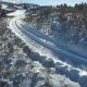Cars Approach the Ski Resort