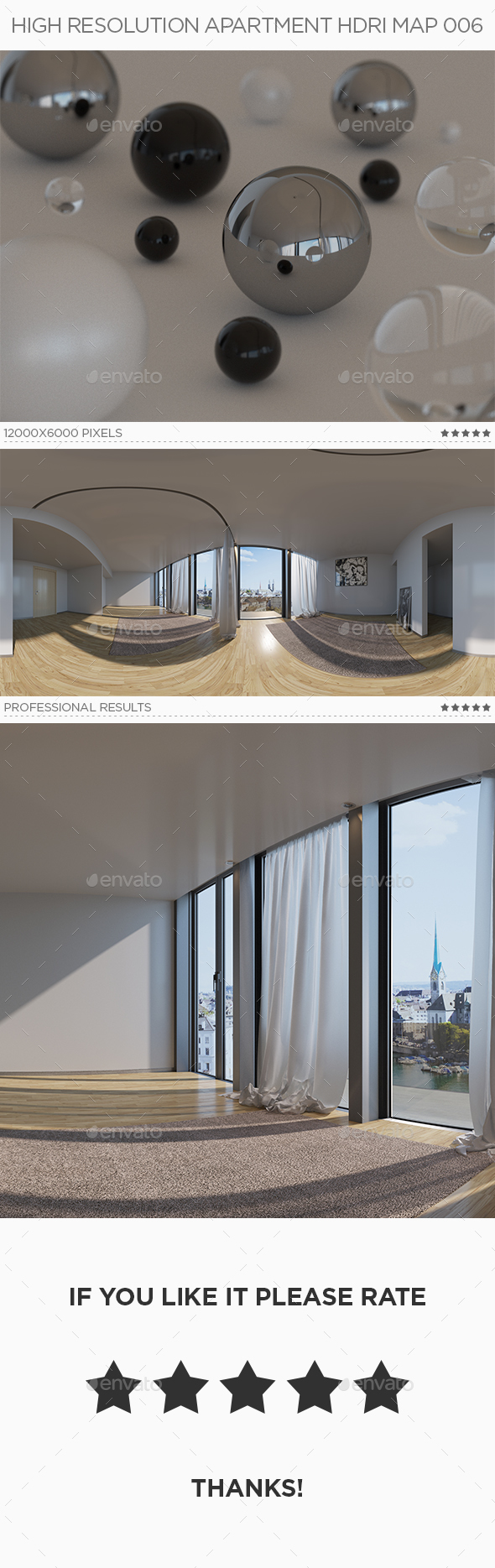 High Resolution Apartment HDRi Map 006 - 3DOcean Item for Sale