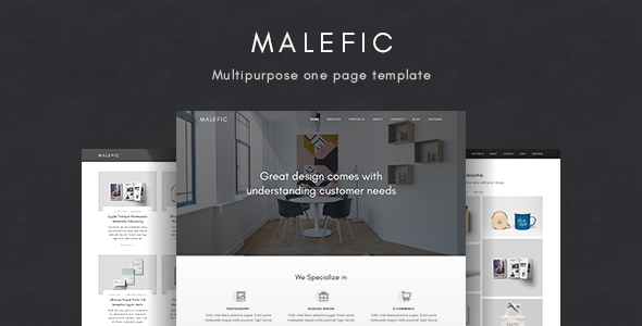 Malefic – Multipurpose One Page HTML5 Template