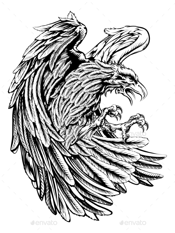 Vintage Style Eagle - Animals Characters