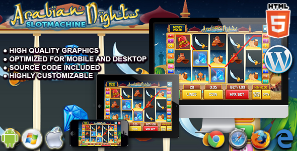 Slot Arabian - HTML5 Casino Game - CodeCanyon Item for Sale