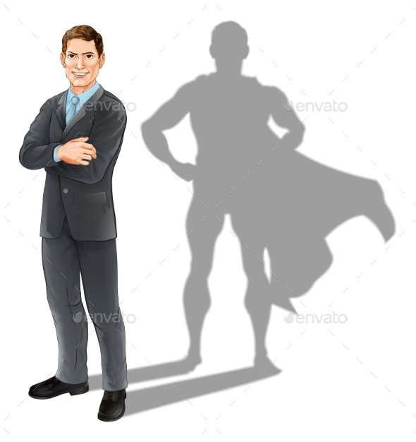 Businessman Hero - People Characters