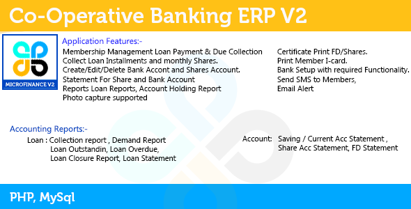 Credit Co-Operative ERP - CodeCanyon Item for Sale