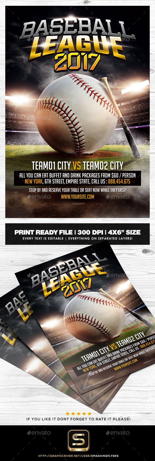 Baseball Flyer Template - Sports Events