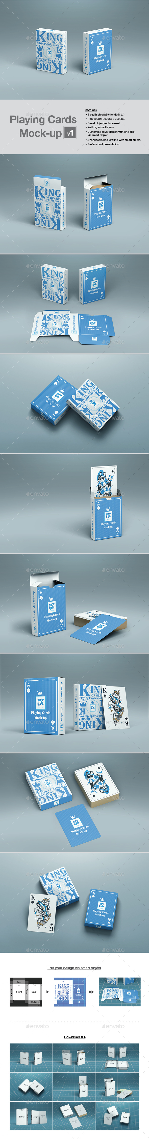 Playing Cards Mock-up v1 - Product Mock-Ups Graphics