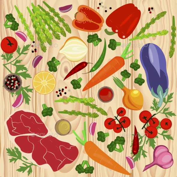Banner of Raw Food - Food Objects