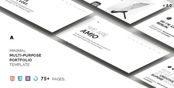 Amio – Minimal Multi-Purpose Portfolio Template - Portfolio Creative