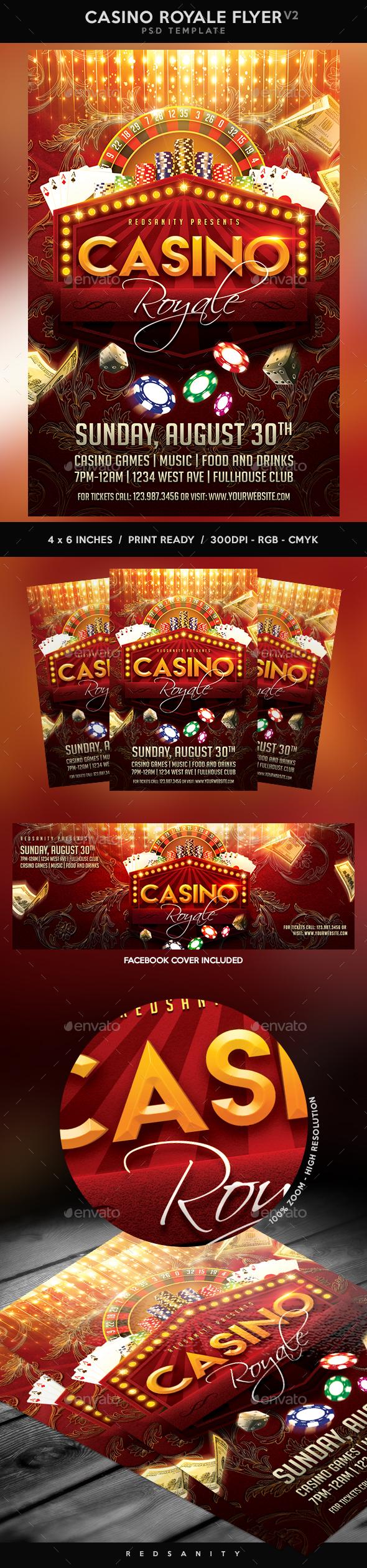 Casino Royale Flyer V2 - Events Flyers