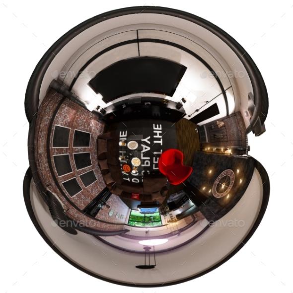 3d Render 360 Panorama Livingroom of Interior - Architecture 3D Renders