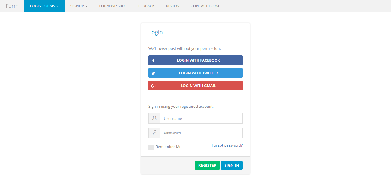 Bootstrap super clean forms by jnixtech codecanyon screenshotsimg1g falaconquin