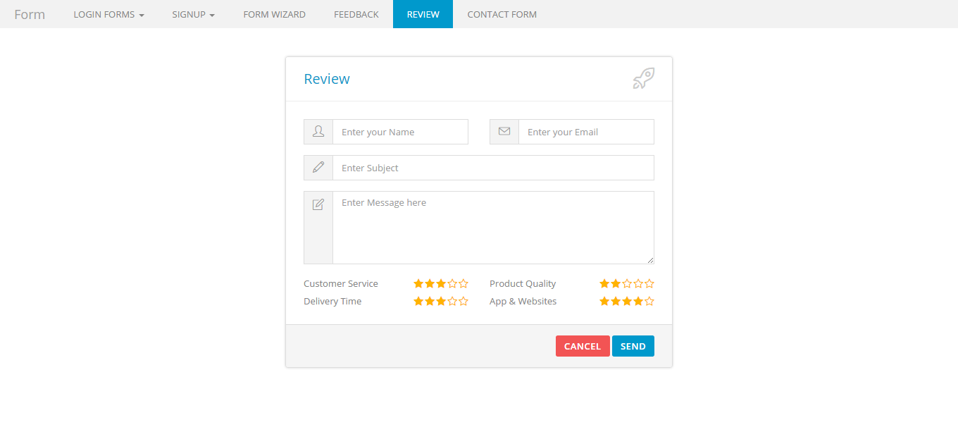 Bootstrap Super Clean Forms By Jnixtech Codecanyon