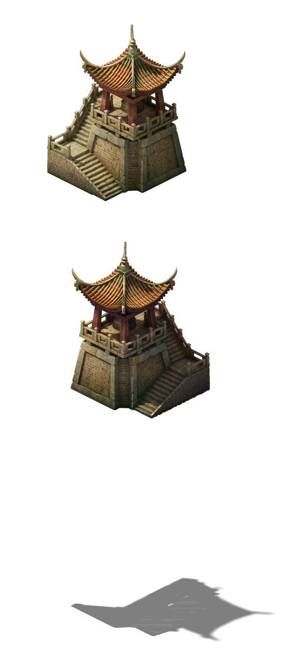 Game Model - Wall Clock Tower - 3DOcean Item for Sale