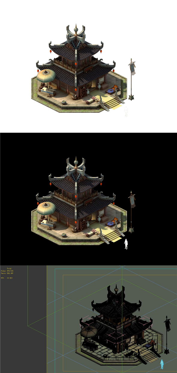 Game model - the city jewelry shop - 3DOcean Item for Sale
