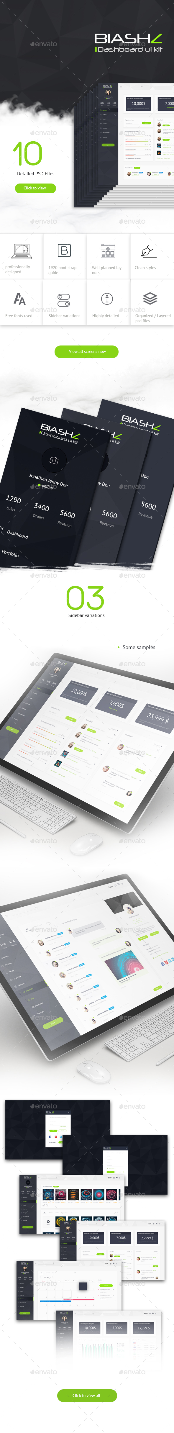 Blashz Dashboard UI Kit - User Interfaces Web Elements