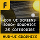 HUD - UI Graphics for FILM, TV and GAMES - VideoHive Item for Sale
