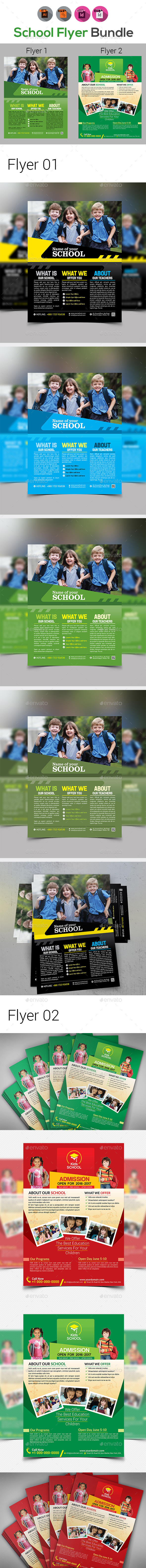 School Flyer Bundle V4 - Corporate Flyers