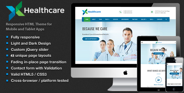 Health & Care – Medical HTML5 Template