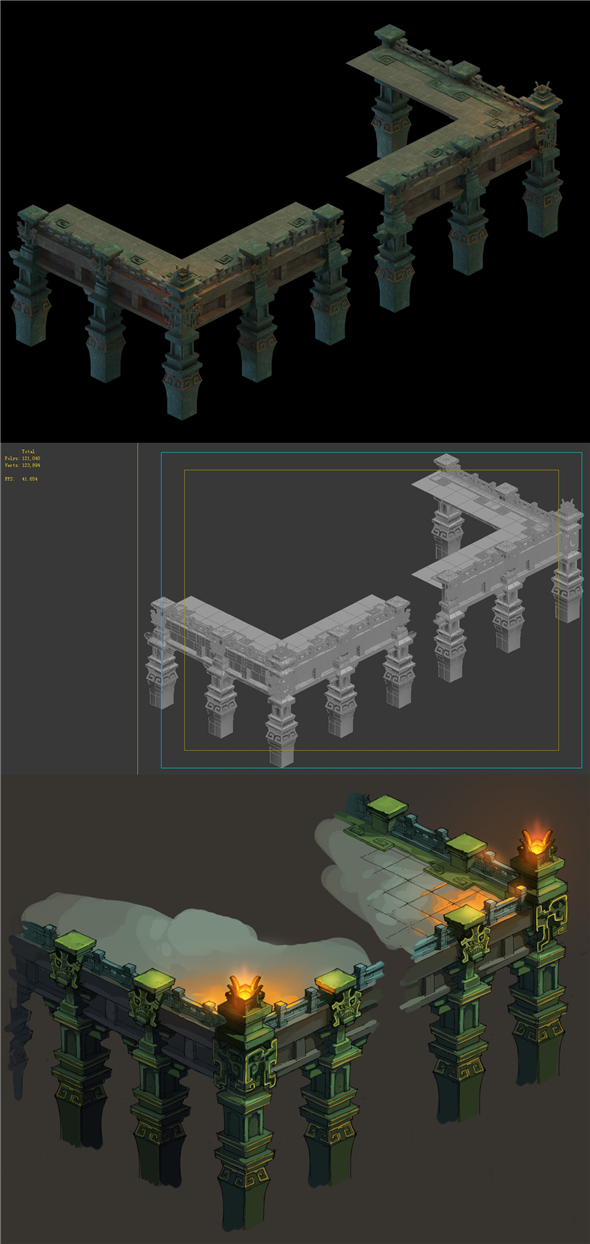 Game Model - Giant Palace Platform Design - 3DOcean Item for Sale