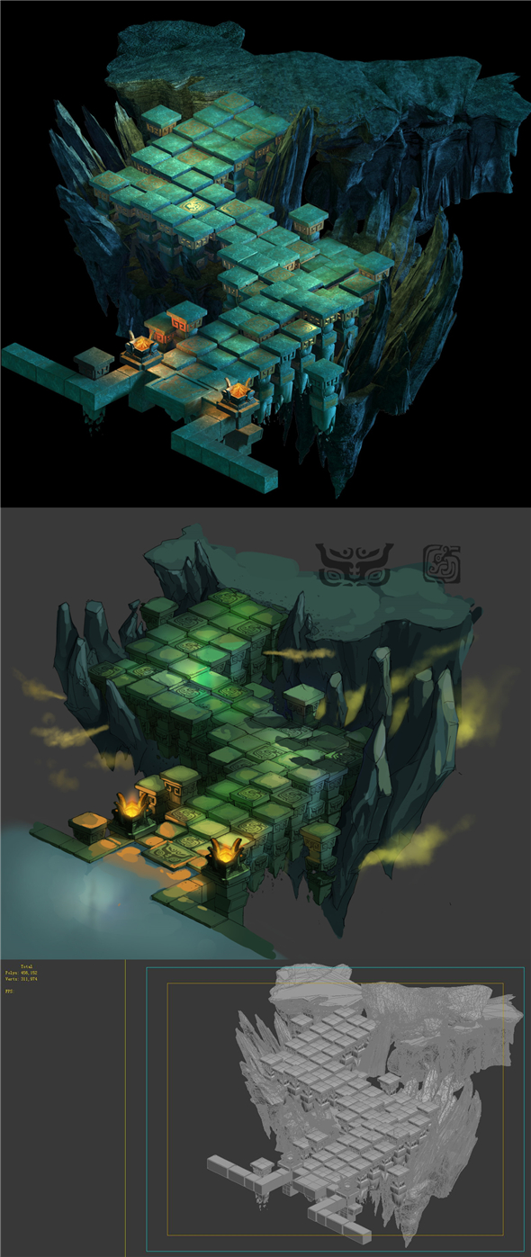 Game Model - underground palace mysterious soul ladder - 3DOcean Item for Sale