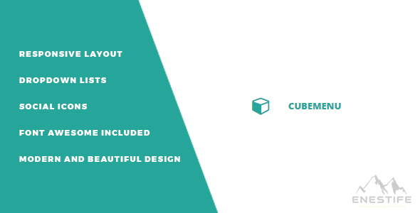 Enestife - Cube Menu Responsive - CodeCanyon Item for Sale