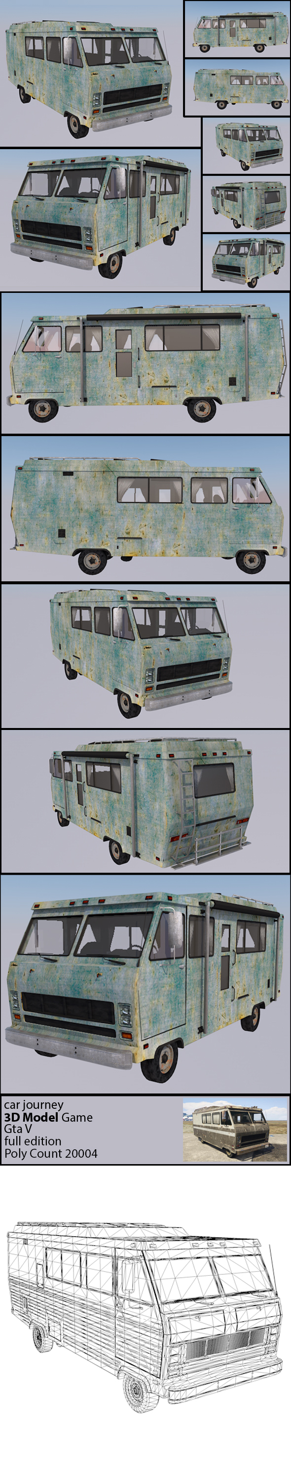 Car Journey - GTA V ( Full texture & edition ) - 3DOcean Item for Sale