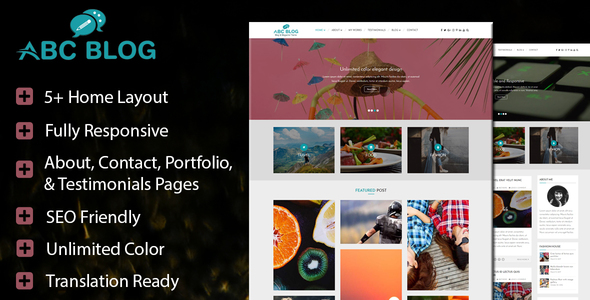 Abcblog – WordPress Blog and Magazine Theme