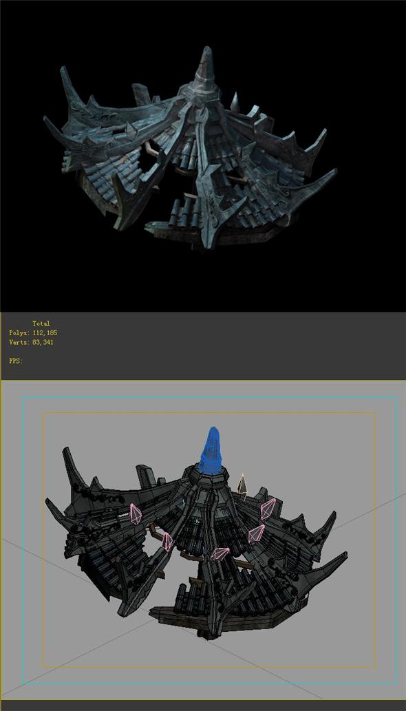 Game Model - Ruins 01 - 3DOcean Item for Sale