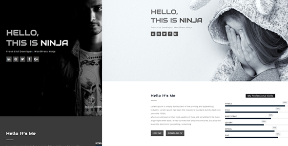 Rocks – One Page Personal Template