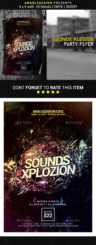 Sounds Xplosion Flyer - Events Flyers