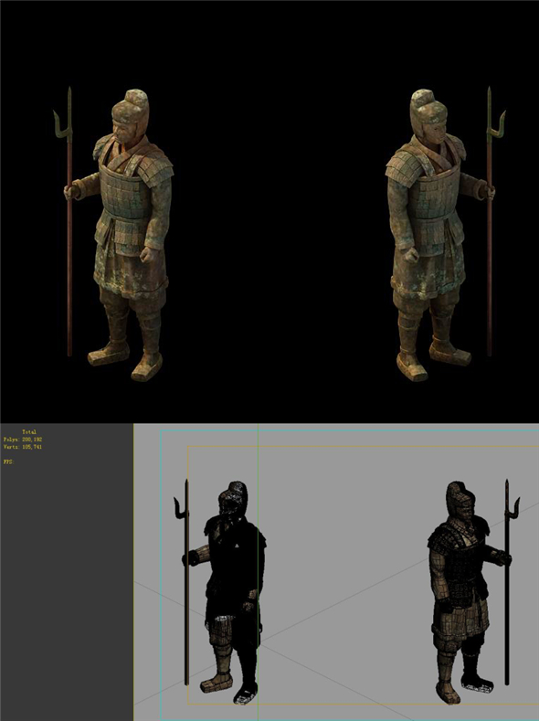 Game Model - Tomb of the Terracotta Warriors - 3DOcean Item for Sale