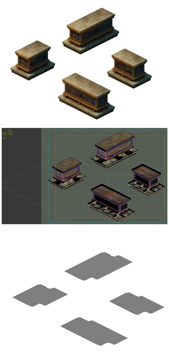 Game model - the tomb of the sarcophagus - 3DOcean Item for Sale