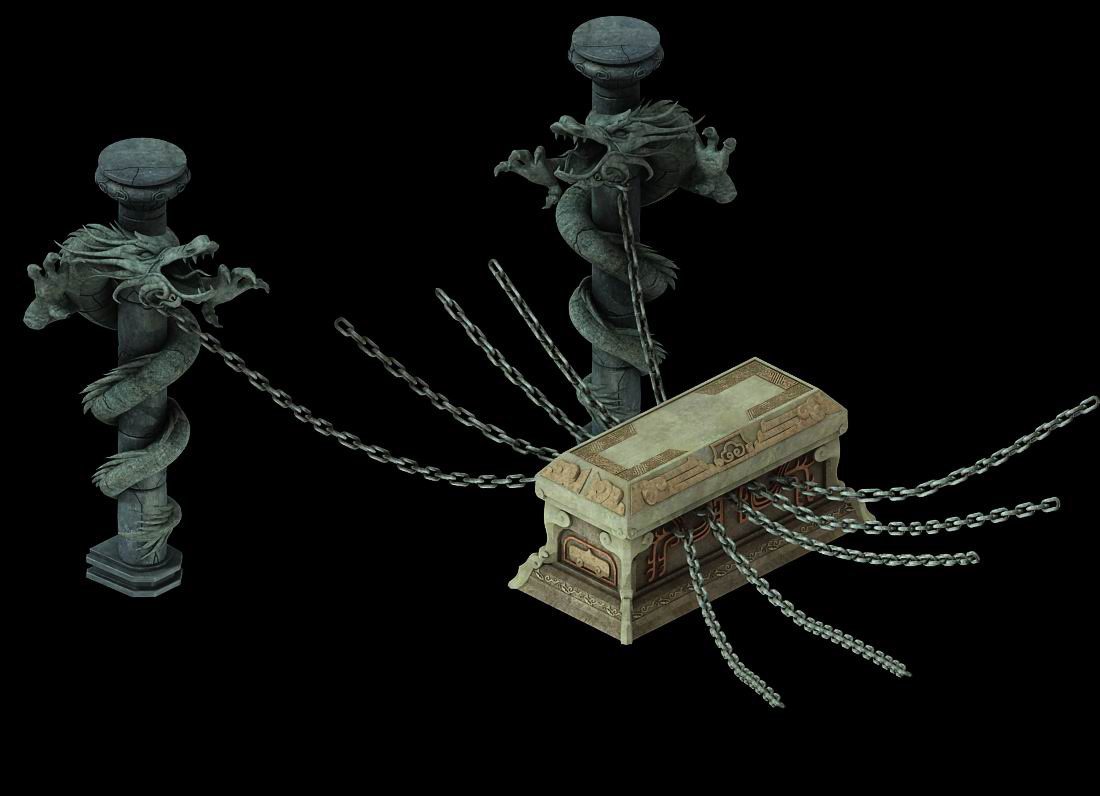 Game model - the tomb of the chain locked in the sarcophagus