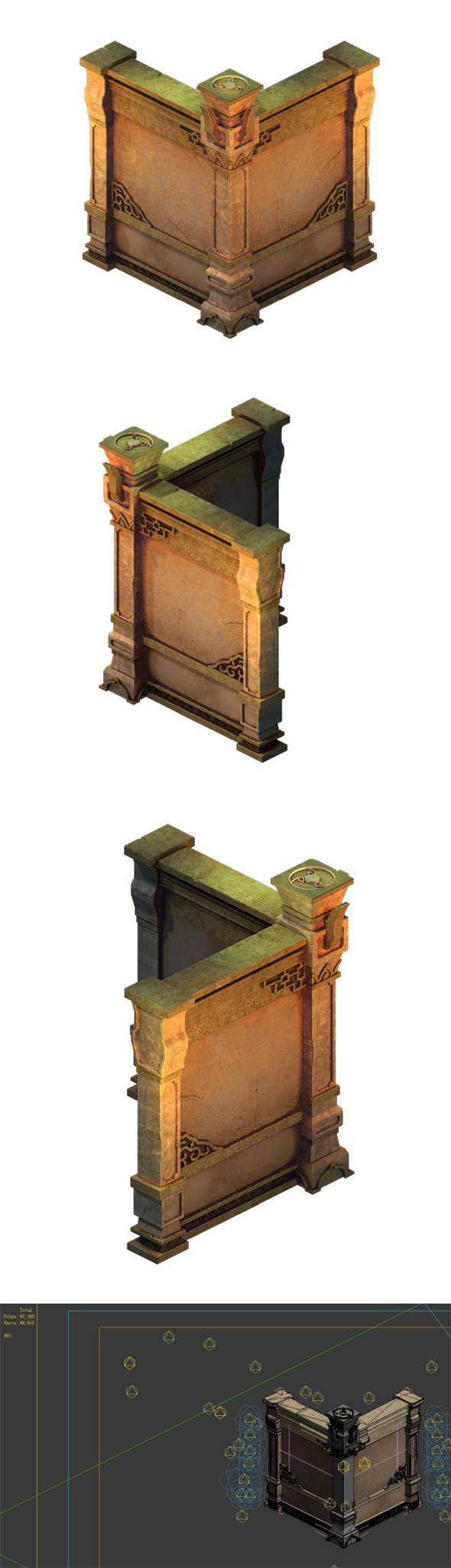 Game model - the tomb wall 03 - 3DOcean Item for Sale