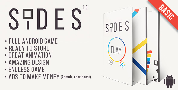 Sides (Basic version) -  Android Game Template + Android Studio + Eclipse - CodeCanyon Item for Sale