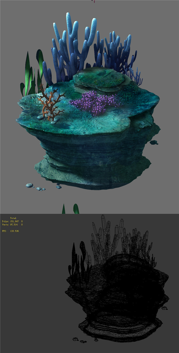 Game Model - Seabed - Seabed Reef - 3DOcean Item for Sale