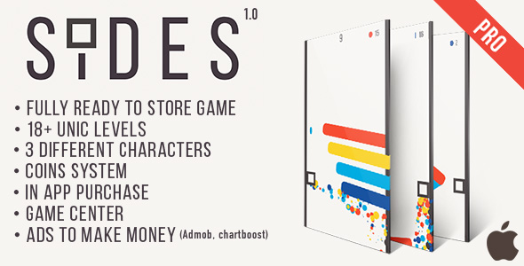 Sides (Pro version) -  IOS Game Template + AdMob + Chartboost - CodeCanyon Item for Sale