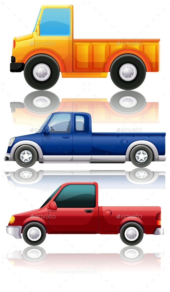 Three Different Kinds of Trucks - Miscellaneous Conceptual