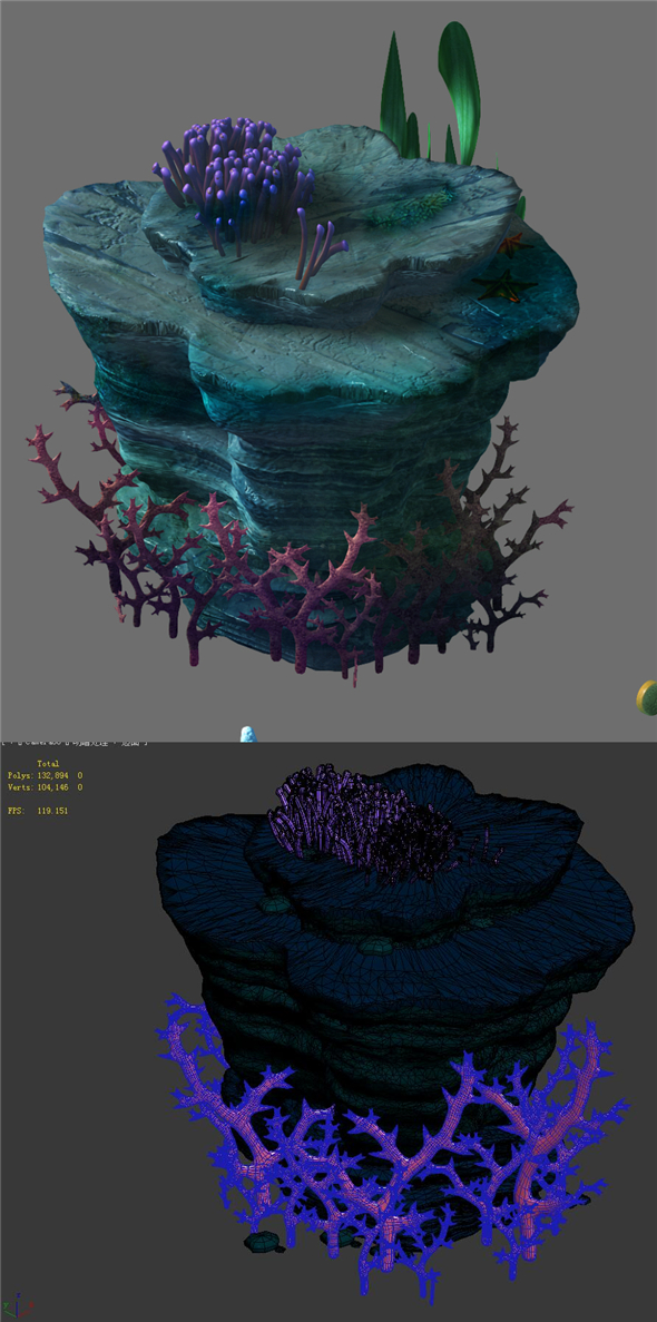 Game Model - Seabed - Coral Tree 1 - 3DOcean Item for Sale
