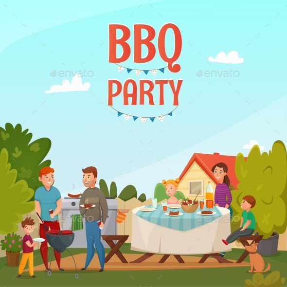 Barbecue Party Poster - Food Objects