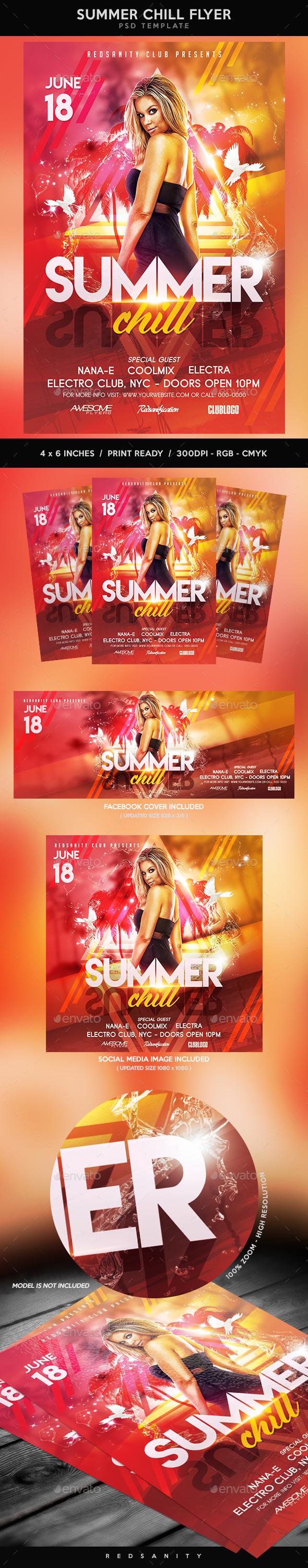 Summer Chill Flyer - Clubs & Parties Events