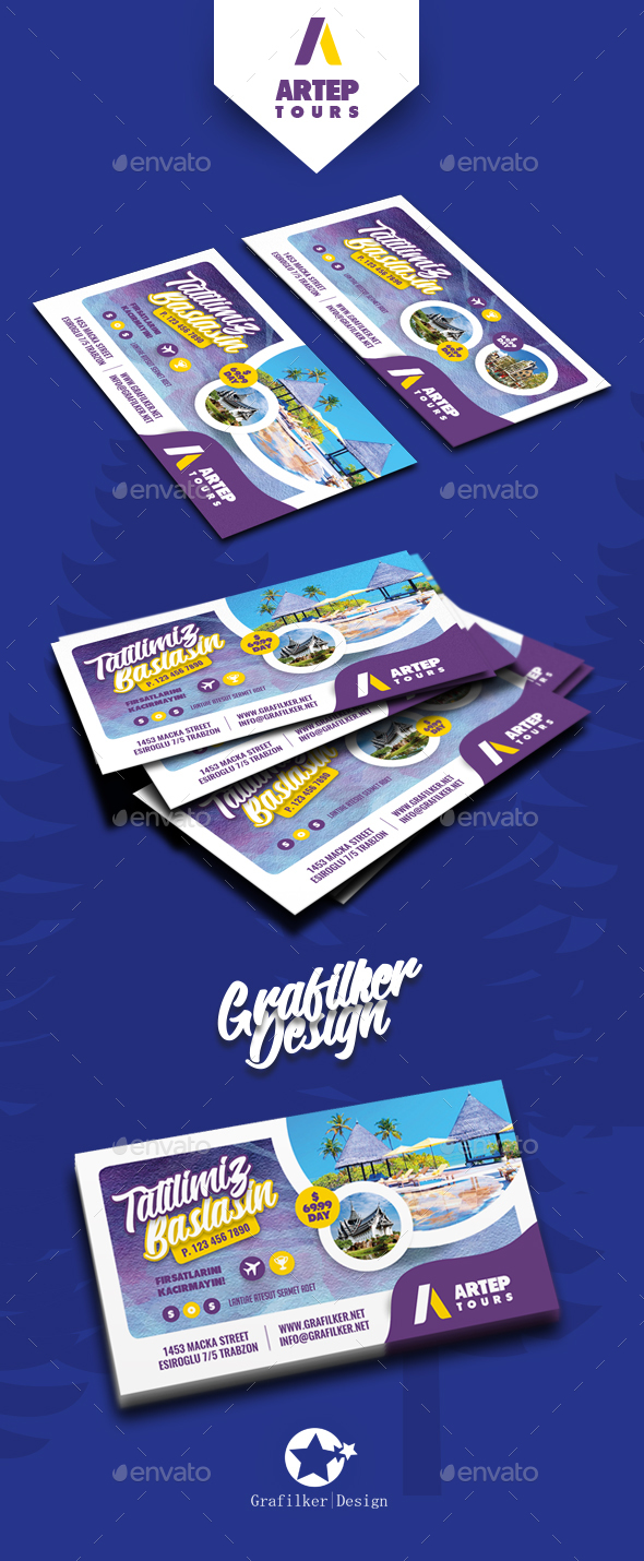 Travel Tour Business Card Templates - Corporate Business Cards