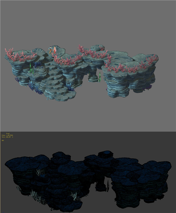 Game Model - Seabed Cliff 3 - 3DOcean Item for Sale