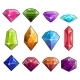 Big Set of Jewels and Diamonds Icons - GraphicRiver Item for Sale