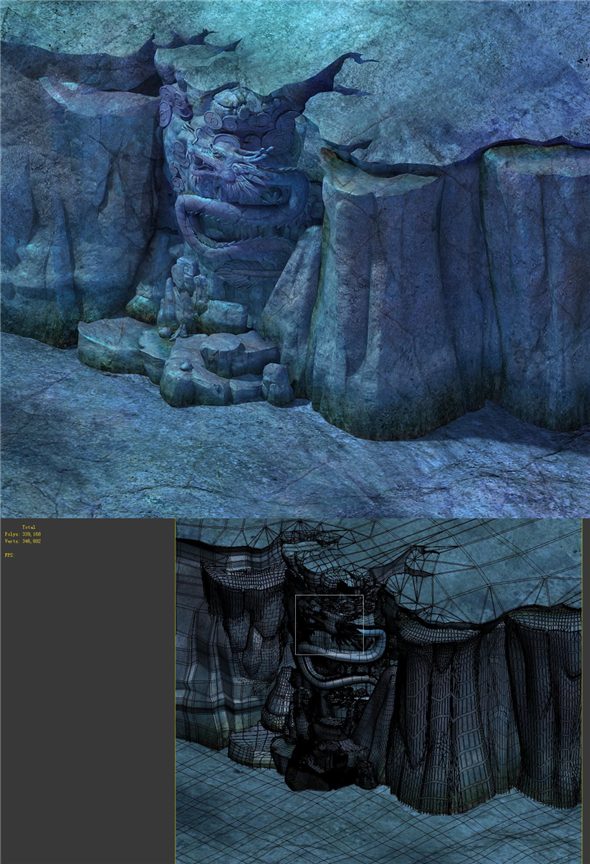 Game Model - Heihe Area Relief - 3DOcean Item for Sale