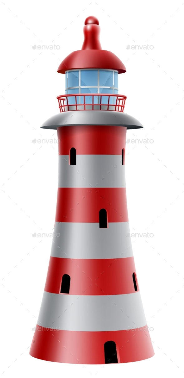 Lighthouse Illustration - Buildings Objects