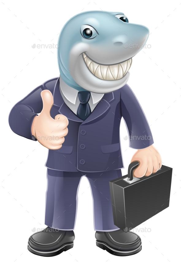 Business Man Shark - Concepts Business
